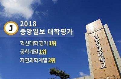 POSTECH, 중앙일보 혁신대학·공학계열 평가 1위